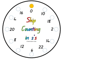 ACARA C2c 2's Skip Counting Fine Motor Patterns CCSS