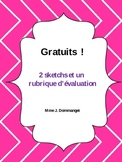 2 short skits with an oral assessment rubric