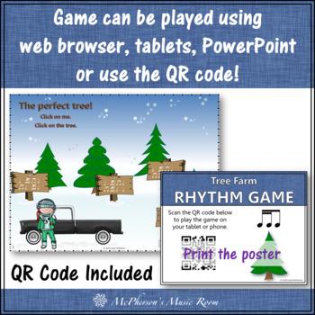 Christmas Music Game: 2 Sixteenths/1 Eighth Interactive Rhythm Game {Tree Farm}