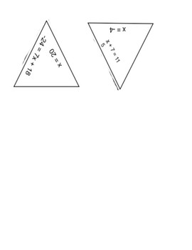 2-step Equations Puzzle Activity