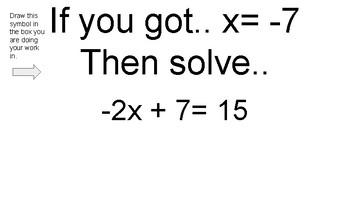 2 step equations Scavenger Hunt