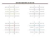 2 step equations Tic Tac Toe Game