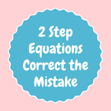 2 step equations correct the mistake