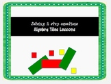 2 step equations with Algebra Tiles Lessons