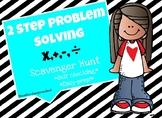 2 step problem solving (using all 4 operations) Scavenger Hunt