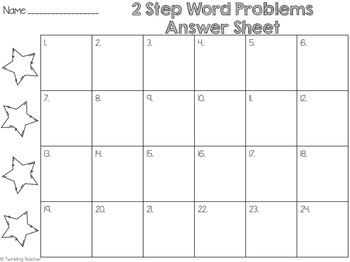 2 step word problem scoot task cards using addition and subtraction within 100!