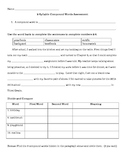 2-syllable Compound Words Assessment