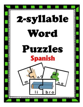 2-syllable word puzzles: SPANISH