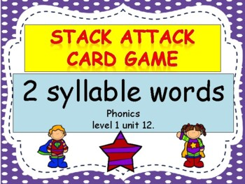 "2 syllable words ""stack attack"" card game"
