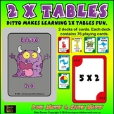 2 times tables fun with Ditto