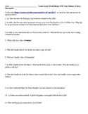 2 video worksheets: Partition of India & Crash Course WH-