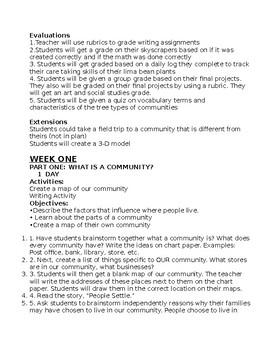 2 week unit plan on communities!
