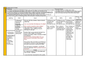 2 weeks Letter writing planning. Year 3 2nd Grade with resources