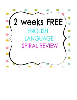 2 weeks for FREE, English Language review assessments for 3rd grade