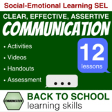 COMMUNICATION SKILLS clear, effective, assertive⭐ BACK to SCHOOL Learning Skills