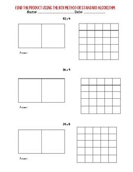 2 x 1 Multiplication Problems