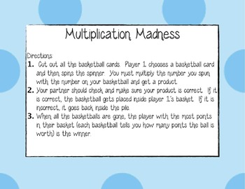 2 x 1 Multiplication introduction activity and game