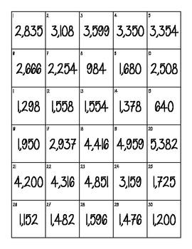 Multiple Digit Multiplication Task Cards