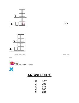 2 x 2 Digit Multiplication W/O Renaming [1]