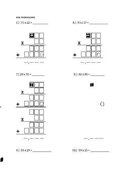 2 x 2 Digit Multiplication w/Renaming ASSIGNMENT #5