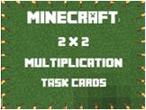 2 x 2 Minecraft Multiplication Task Cards Answer Key & Gam