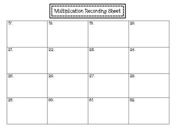 2 x 2 Multiplication Task Cards