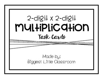 2 x 2 Multiplication Task Cards