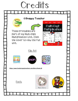 2 x 2 Multiplication Worksheet Cut and Paste