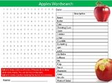 2 x Apples Wordsearch Puzzle Sheet Keywords Homework Food Nutrition Fruit