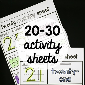 20-30 Number Activity Sheets