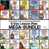 20 5-Day Lesson Plans for Preschool, PreK, K & Homeschool MEGA-BUNDLE!
