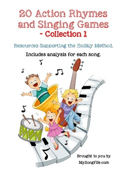 20 Action Singing Games for Teaching with the Kodály Method Collection 1