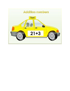 20 Addition Taxis (Adding numbers 20 - 30)