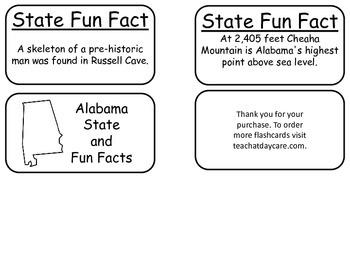 20 Alabama State Fact Flashcards. 1st Grade-7th Grade