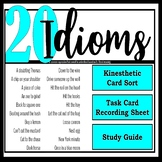 20 American Idioms 3 Activities: Roleplay + Kinethetic Match Up+ Study Guide