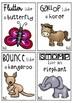 animal movement cards - Set 1