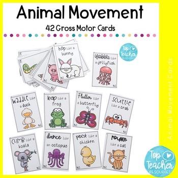 20 Animal movement cards