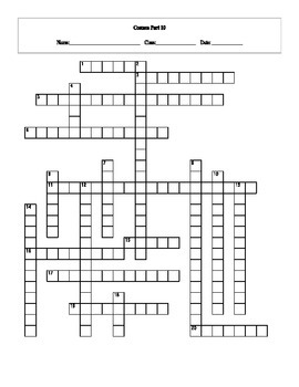 20 Answer Cosmos: A Spacetime Odyssey Episode 10 Crossword with Key