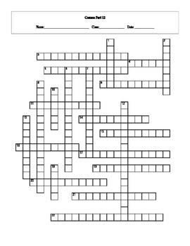 20 Answer Cosmos: A Spacetime Odyssey Episode 12 Crossword with Key