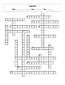 20 Answer Cosmos: A Spacetime Odyssey Episode 13 Crossword with Key
