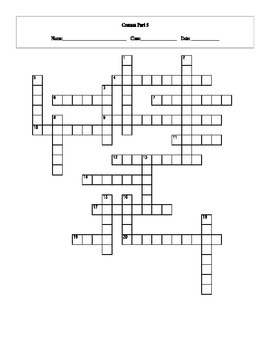 20 Answer Cosmos: A Spacetime Odyssey Episode 5 Crossword with Key