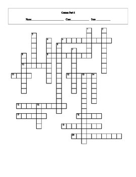 20 Answer Cosmos: A Spacetime Odyssey Episode 6 Crossword with Key