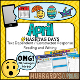20 April Passages- April Writing Prompts- April Activities -Google Classroom-Pdf