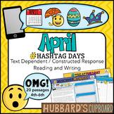 20 April Passages- April Writing Prompts- April Activities -Google Classroom-Pdf