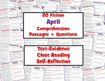 20 April Reading Comprehension Passages: Spring Reading Comprehension