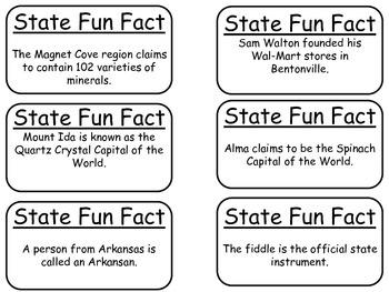 20 Arkansas State Fact Flashcards. 1st Grade-7th Grade