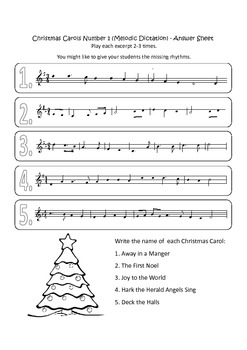 20 Assorted Christmas Music Worksheets (Resources Supporting The Kodály Method)