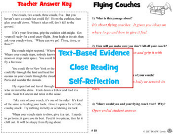 August Reading Comprehension Passages