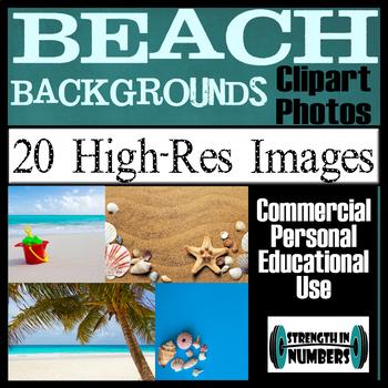 20 BEACH Photos High Resolution Commercial Clip Art Photographs