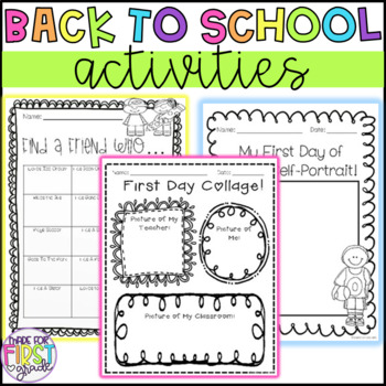 20 Back to School Activities: Writing, Drawing, Book & Get to Know You